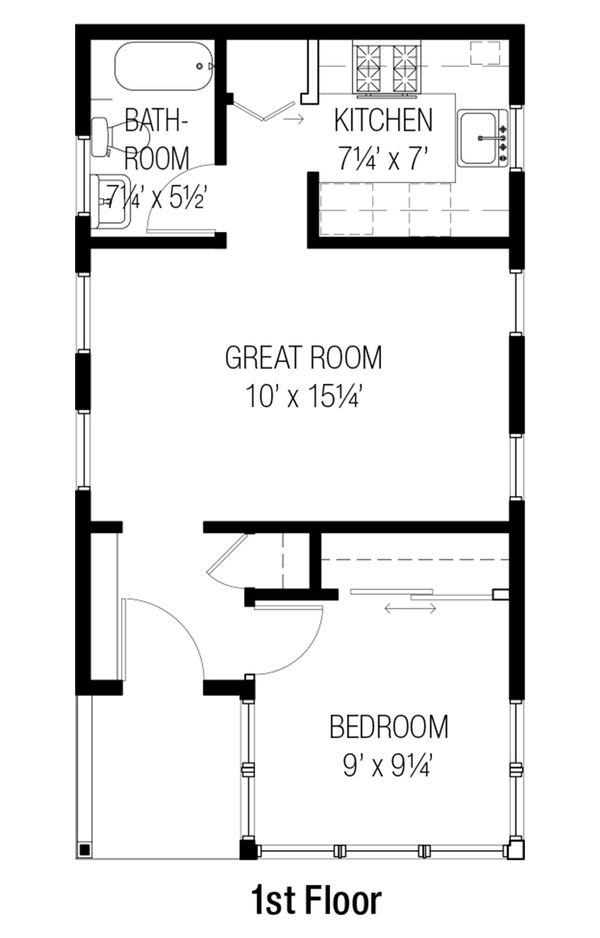 Cottage Floor Plan - Main Floor Plan Plan #915-15