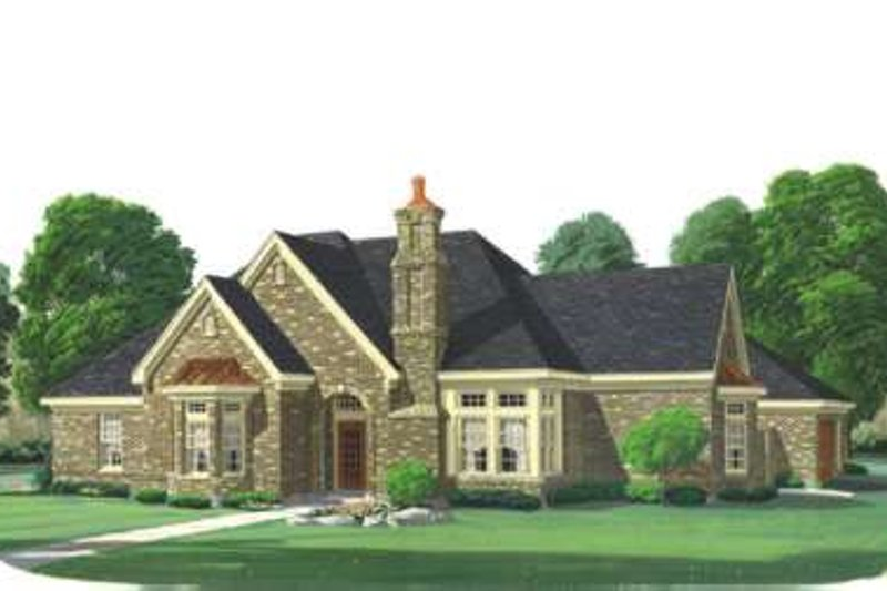 European Exterior - Front Elevation Plan #410-143