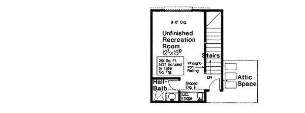 Home Plan - Mediterranean Floor Plan - Upper Floor Plan #310-979