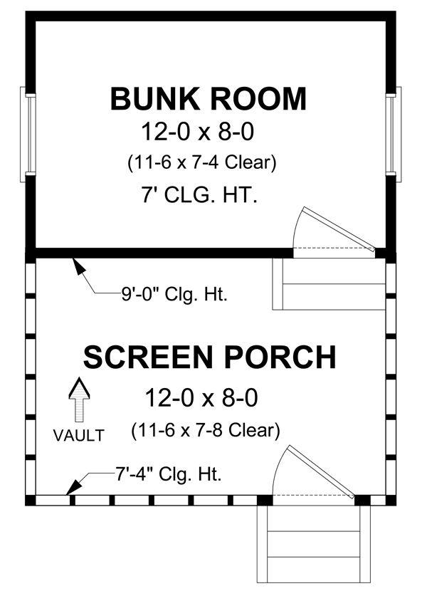 Cottage Floor Plan - Main Floor Plan Plan #21-325