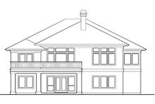 Dream House Plan - Mediterranean Exterior - Rear Elevation Plan #48-426