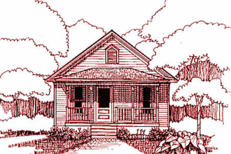 Cottage Style House Plan - 2 Beds 2 Baths 1002 Sq/Ft Plan #79-134 Exterior - Front Elevation