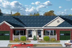 Traditional Exterior - Front Elevation Plan #26-109