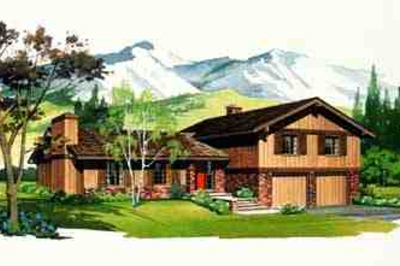 Exterior - Front Elevation Plan #72-205