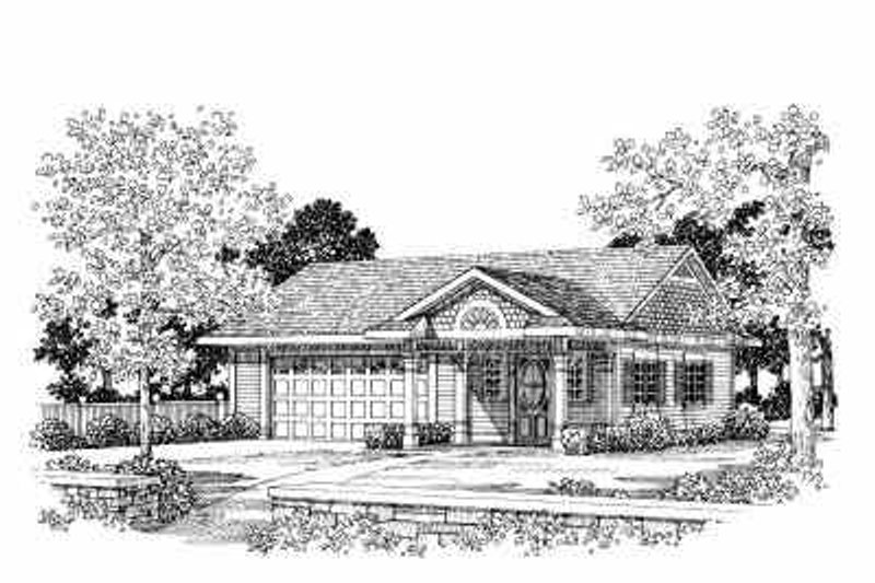 Traditional Exterior - Front Elevation Plan #72-260