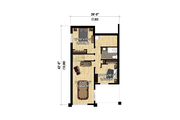 Cottage Style House Plan - 3 Beds 2 Baths 1600 Sq/Ft Plan #25-4926