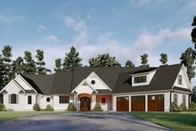 House Plan Design - Farmhouse Exterior - Front Elevation Plan #437-125