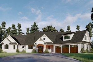 Dream House Plan - Farmhouse Exterior - Front Elevation Plan #437-125