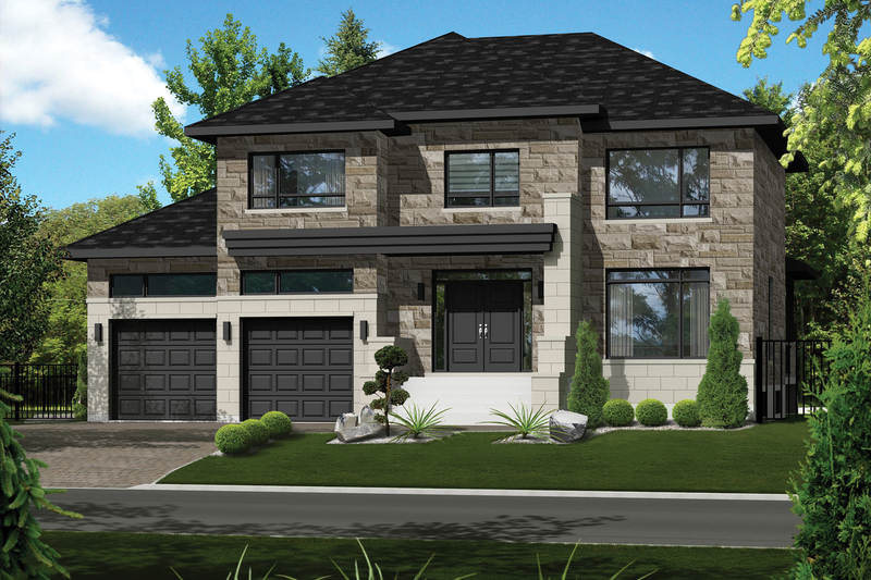 Home Plan - Contemporary Exterior - Front Elevation Plan #25-4910