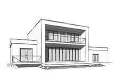 Architectural House Design - Modern Exterior - Rear Elevation Plan #23-2310