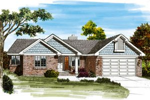 Traditional Exterior - Front Elevation Plan #47-469