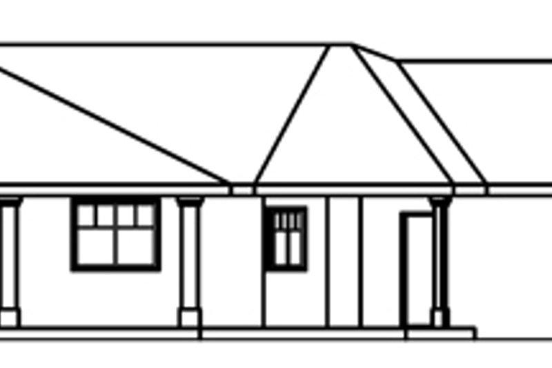 Exterior - Rear Elevation Plan #124-370 - Houseplans.com