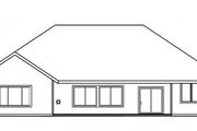 House Plan - 3 Beds 2.5 Baths 2561 Sq/Ft Plan #124-477 Exterior - Rear Elevation