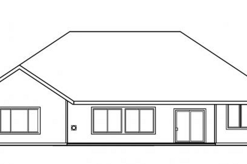 Exterior - Rear Elevation Plan #124-477 - Houseplans.com