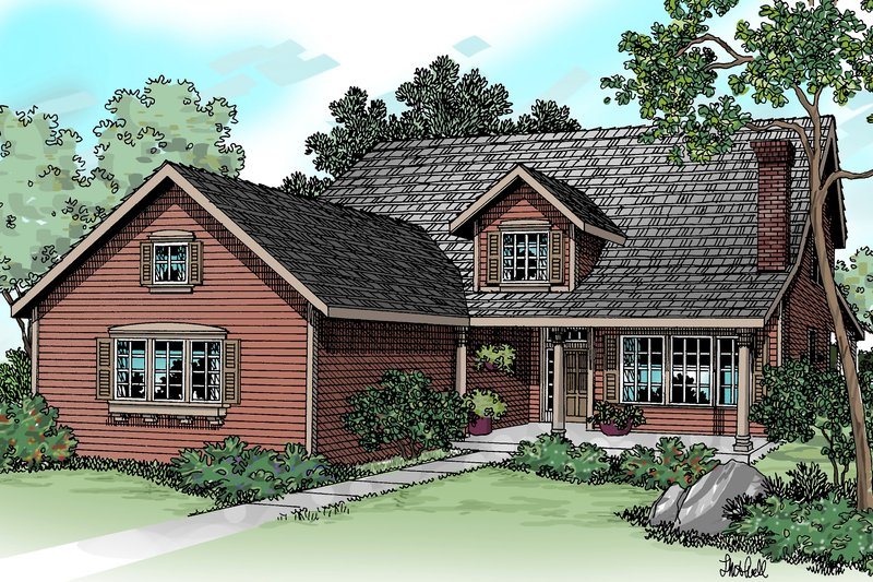 Traditional Exterior - Front Elevation Plan #124-346