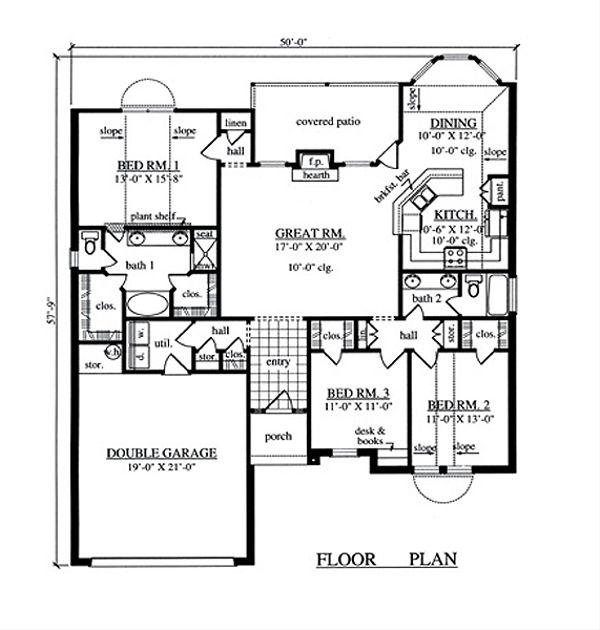Traditional Floor Plan - Main Floor Plan Plan #42-389