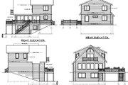House Plan - 4 Beds 2 Baths 1469 Sq/Ft Plan #100-454 Exterior - Rear Elevation