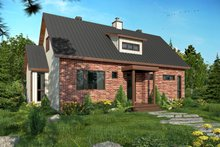 Cottage Exterior - Front Elevation Plan #23-2313