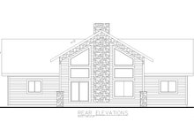 House Plan Design - Country Exterior - Rear Elevation Plan #117-894