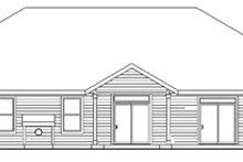 Dream House Plan - Craftsman Exterior - Rear Elevation Plan #124-749