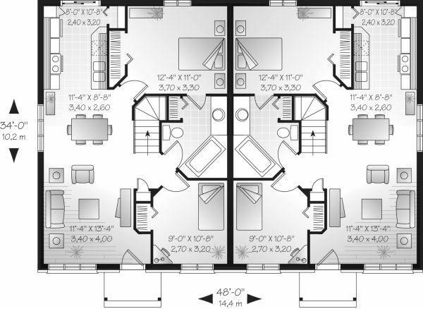 European Floor Plan - Main Floor Plan Plan #23-680