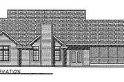Country Style House Plan - 3 Beds 2.5 Baths 1781 Sq/Ft Plan #70-197 Exterior - Rear Elevation