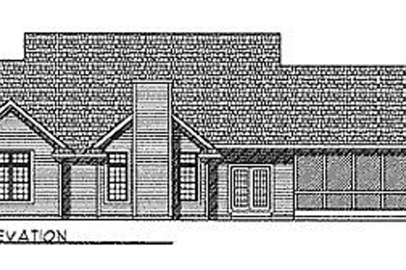 Country Exterior - Rear Elevation Plan #70-197 - Houseplans.com