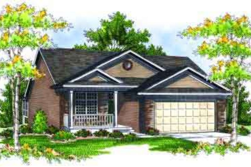 Traditional Exterior - Front Elevation Plan #70-682 - Houseplans.com