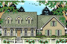 Country Exterior - Front Elevation Plan #42-415