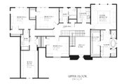 European Style House Plan - 4 Beds 3.5 Baths 3890 Sq/Ft Plan #901-84 Floor Plan - Upper Floor Plan