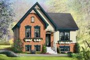 European Style House Plan - 2 Beds 1 Baths 1028 Sq/Ft Plan #25-370 Exterior - Front Elevation