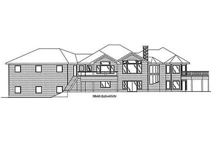 Bungalow Exterior - Rear Elevation Plan #117-515 - Houseplans.com