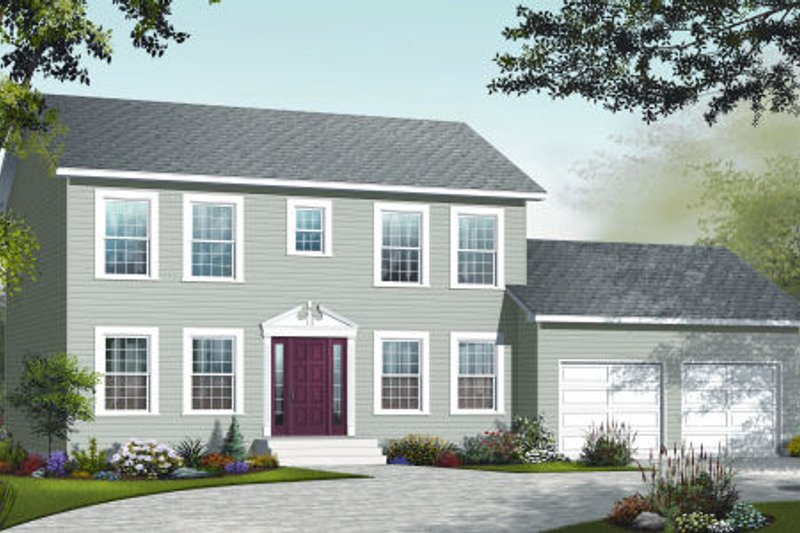 Country Exterior - Front Elevation Plan #23-2261 - Houseplans.com