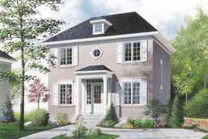 Colonial Exterior - Front Elevation Plan #23-256