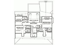 Colonial Floor Plan - Upper Floor Plan Plan #137-101