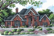 Dream House Plan - European Exterior - Front Elevation Plan #929-884