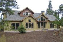 Dream House Plan - Craftsman style home design, rear elevation photo