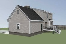 House Plan Design - Cottage Exterior - Rear Elevation Plan #79-158