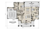 Craftsman Style House Plan - 3 Beds 2.5 Baths 2500 Sq/Ft Plan #51-586 Floor Plan - Main Floor