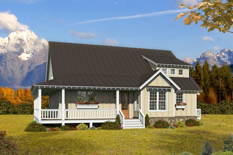 Country Style House Plan - 3 Beds 2.5 Baths 2200 Sq/Ft Plan #932-311 Exterior - Front Elevation