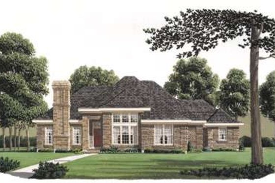 European Exterior - Front Elevation Plan #410-184