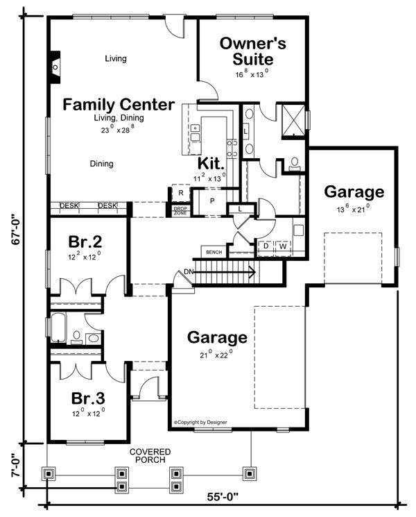 Home Plan - Traditional Floor Plan - Main Floor Plan #20-2445