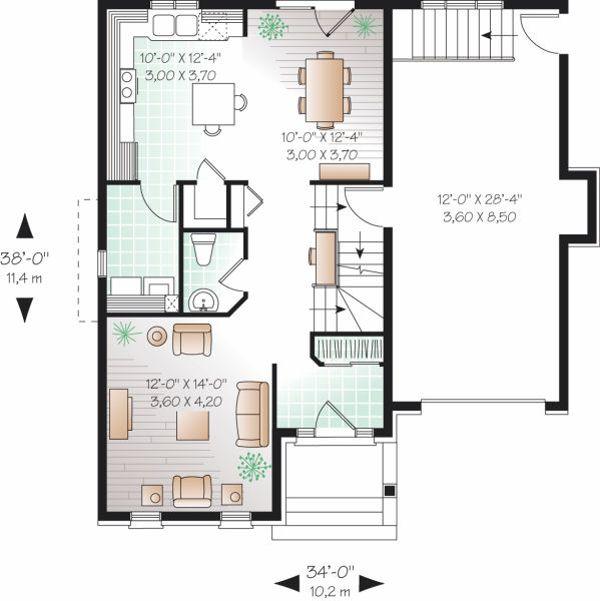 European Floor Plan - Main Floor Plan Plan #23-800