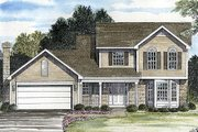 Traditional Style House Plan - 3 Beds 2.5 Baths 1813 Sq/Ft Plan #316-111 Exterior - Front Elevation