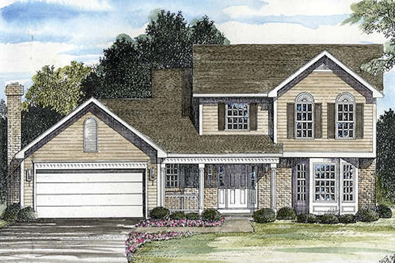 Traditional Style House Plan - 3 Beds 2.5 Baths 1813 Sq/Ft Plan #316-111