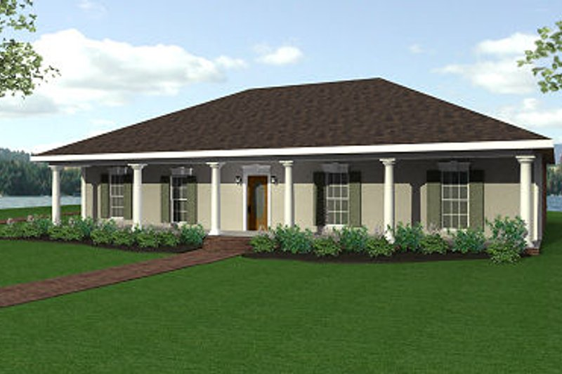 Country Exterior - Front Elevation Plan #44-116 - Houseplans.com