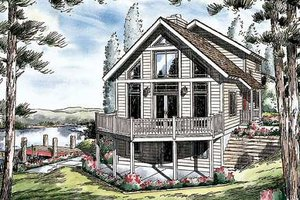 Bungalow Exterior - Front Elevation Plan #312-611