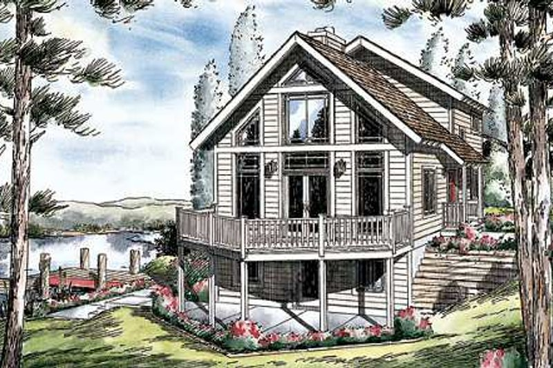 Bungalow Style House Plan - 3 Beds 2.5 Baths 1855 Sq/Ft Plan #312-611
