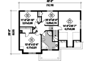 European Style House Plan - 3 Beds 1 Baths 1699 Sq/Ft Plan #25-4852 Floor Plan - Upper Floor Plan