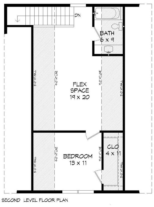 Cabin Floor Plan - Upper Floor Plan Plan #932-214